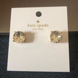 Kate Spade Clear Gumdrop Studs - Medium